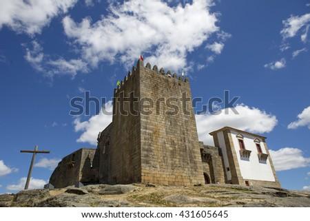 Belmonte castle. Historic village of Portugal, near Covilha - stock photo