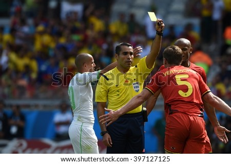 BELO HORIZONTE, BRAZIL - June 17, 2014: Referee