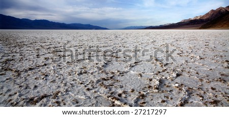 Below Sea Level At Badwater, Death Valley National Park, California - stock photo