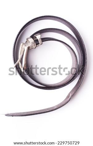 belt for men on white background. - stock photo