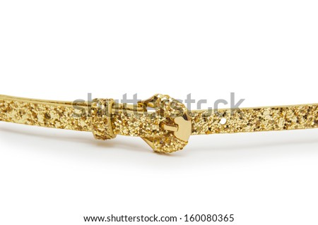 belt gold color isolated  - stock photo