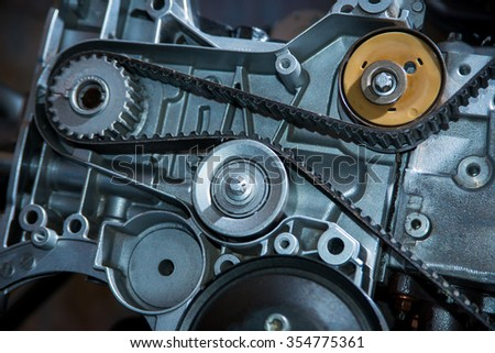 Belt in a motor vehicle - stock photo