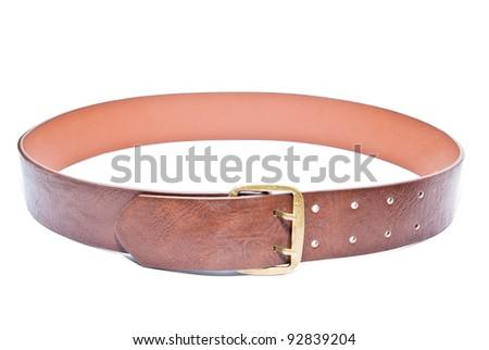belt isolated on a white background - stock photo