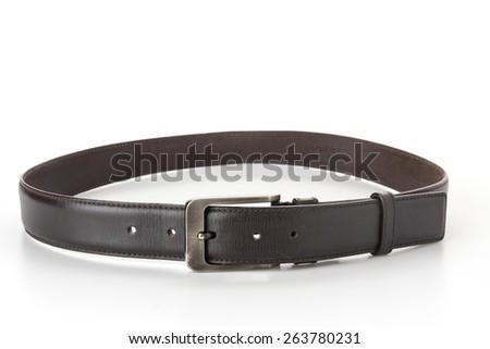 belt isolated on white background - stock photo