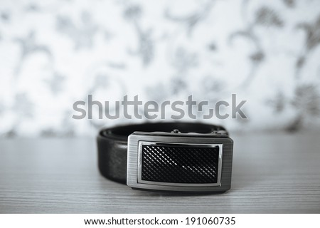belt men - stock photo