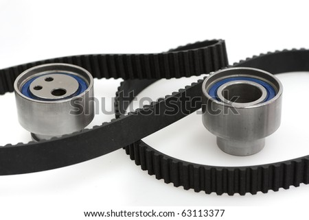 Belt of distribution notched for automobile engine