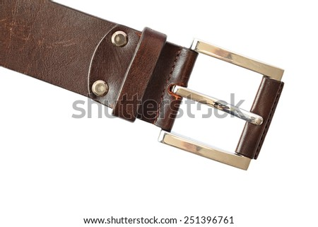 Belt with buckle unit isolated on a white background  - stock photo