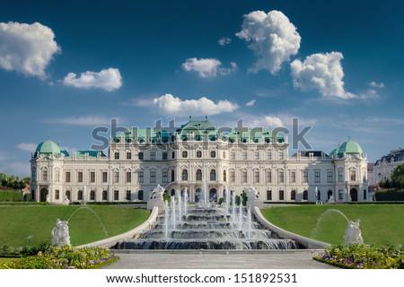 Belvedere Castle in Vienna. - stock photo