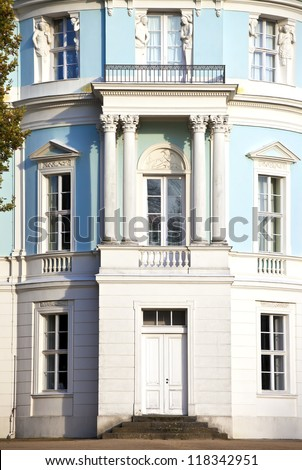 Belvedere facade in the Garden of Charlottenburg Palace in Berlin, Germany