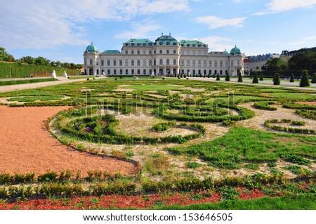 Belvedere palace and garden, Austria - stock photo