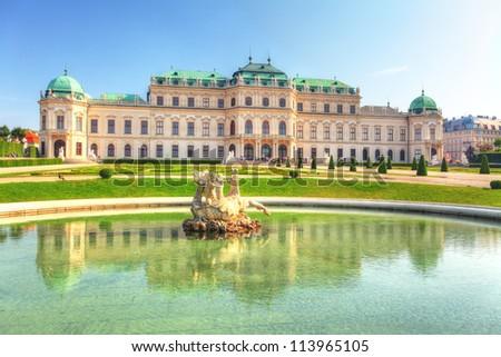Belvedere Palace in Vienna - Austria - stock photo