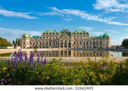 Belvedere Palace in Vienna, Austria - stock photo