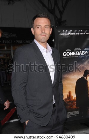 "Ben Affleck at the Los Angeles premiere of his new movie ""Gone Baby Gone"" which marks his directorial debut. October 9, 2007  Los Angeles, CA Picture: Paul Smith / Featureflash"