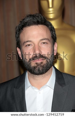 Ben Affleck at the 85th Academy Awards Nominations Luncheon, Beverly Hilton, Beverly Hills, CA 02-04-13 - stock photo