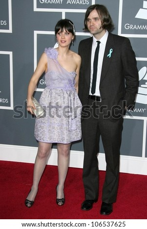 Ben Gibbard and Zooey Deschanel at the 51st Annual GRAMMY Awards. Staples Center, Los Angeles, CA. 02-08-09