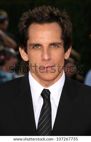 Ben Stiller  at the Los Angeles Premiere of 'Tropic Thunder'. Mann's Village Theater, Westwood, CA. 08-11-08 - stock photo