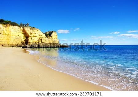 Benagil  beach, Algarve, Portugal  - stock photo