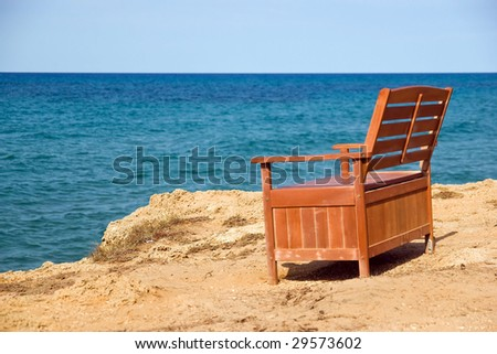 bench and sea
