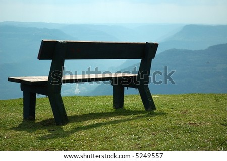 Bench for think - stock photo