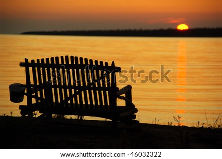 Bench For Two to Watch the Sunset