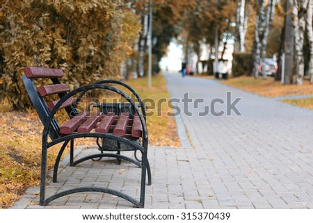 bench forged close - stock photo