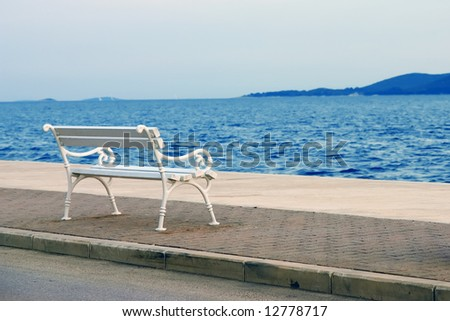 Bench in a nice coastal scenery
