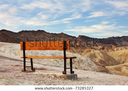 bench in Death Valley - stock photo