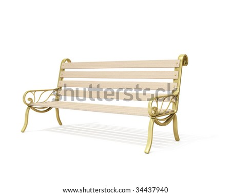 Bench isolated - stock photo