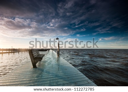 Bench on the dock
