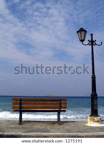 bench on the seaside