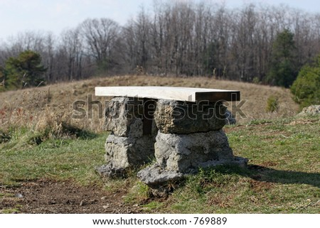 Bench With A View - stock photo