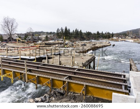 Dam construction stock images royalty free images for Bend oregon contractors