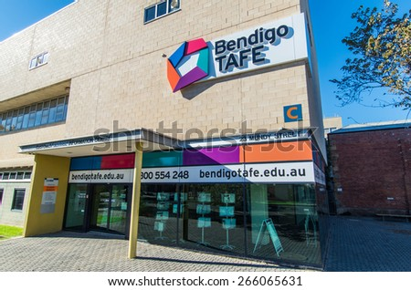 BENDIGO, AUSTRALIA - March 29, 2015: Bendigo TAFE is a college of technical and further education, educating 9000 students annually. - stock photo