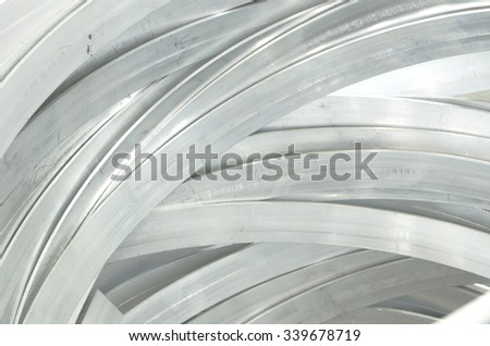 bending shape of aluminium striped line background
