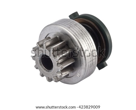 Bendix Drive starter. Detail for starter of automobile, - stock photo