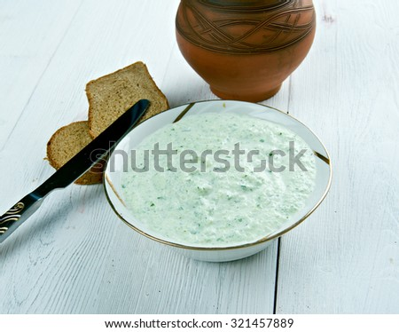 Benedictine -  spread made with cucumbers and cream cheese.Cuisine of the United States