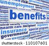 Benefits slogan poster concept. Financial support message design - stock photo