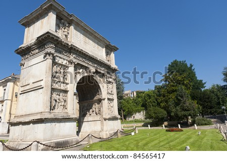 Benevento (Campania, Italy) - Arch known as Arco di Traiano