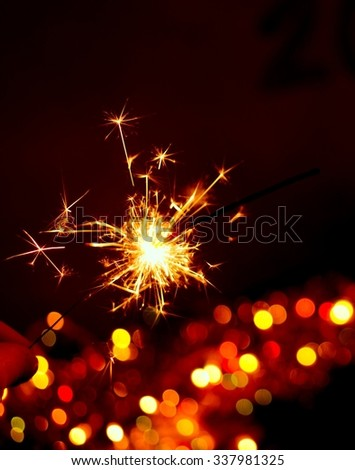 Bengal light,Christmas background, New Year background
