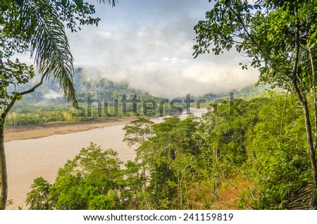 Beni river in Bolivian jungle (Rurrenabaque region) - stock photo