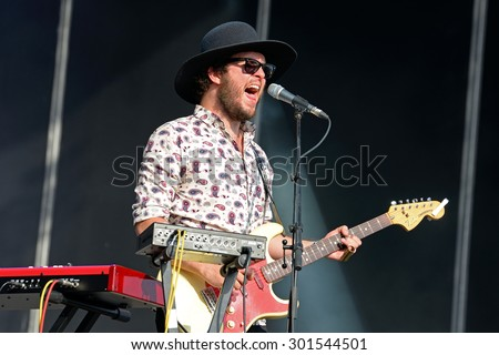 BENICASSIM, SPAIN - JULY 17: Mucho (Spanish band) in concert at FIB Festival on July 17, 2014 in Benicassim, Spain.