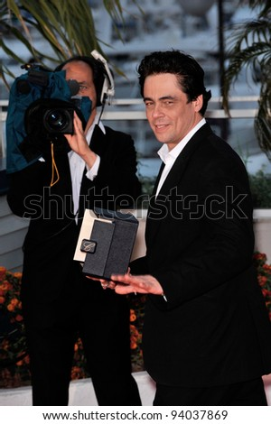 "Benicio Del Toro, winner of the Best Actor Award (""Che"") at the 61st Annual International Film Festival de Cannes.  May 25, 2008  Cannes, France. Picture: Paul Smith / Featureflash"