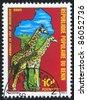BENIN - CIRCA 1979: stamp printed by Benin, shows giraffe, circa 1979. - stock photo