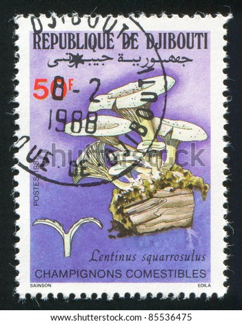 BENIN - CIRCA 1987: stamp printed by Benin, shows mushroom, circa 1987.