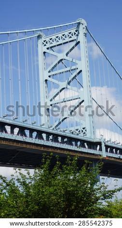 Benjamin Franklin Bridge in Philadelphia - stock photo