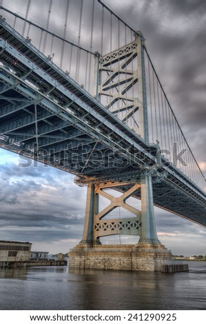 Benjamin Franklin Bridge, Philadelphia, Pennsylvania - stock photo