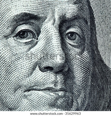 Benjamin Franklin portrait - stock photo