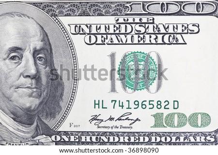 Benjamin Franklin Upclose - stock photo