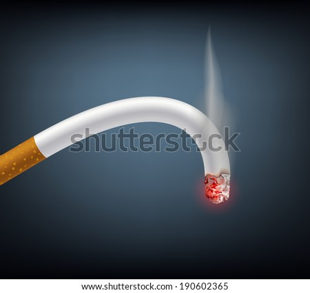 bent cigarette meaning impotence - stock photo