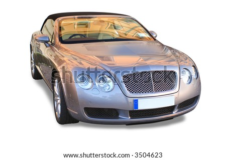 Bentley Isolated - stock photo